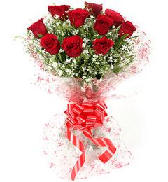 10 red roses flower bouquet patna danapur