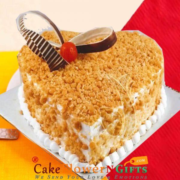 Heart Shape Butterscotch Cake danapur patna
